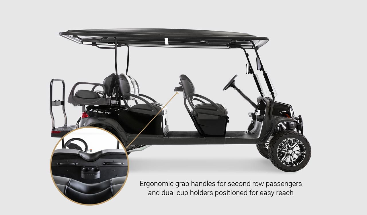 Onward 6 Passenger golf cart Detail Slider 2
