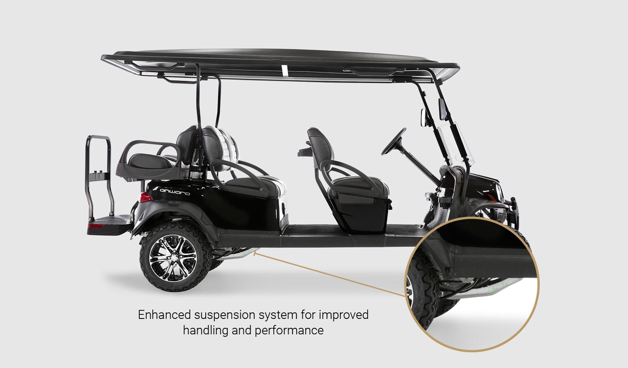 Onward 6 Passenger golf cart Detail Slider 3