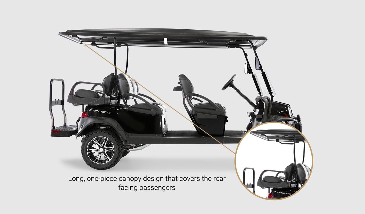 Onward 6 Passenger golf cart Detail Slider 4