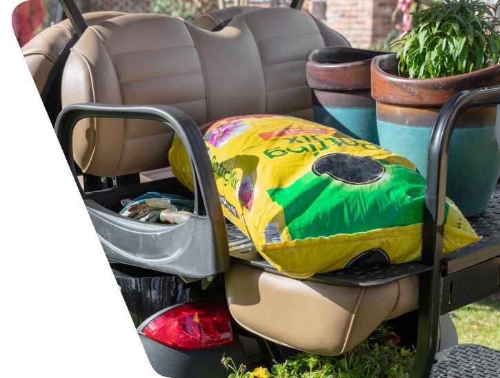 Onward golf cart rear seat flips out to bed RH 725x549