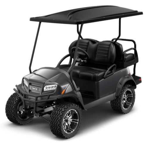 Lifted 4 Passenger Golf Cart in Charcoal