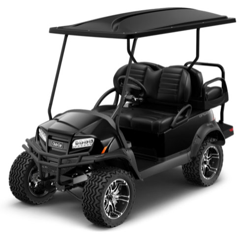 Lifted 4 Passenger Golf Cart in Black