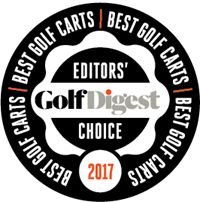 Golf Digest best golf car badge