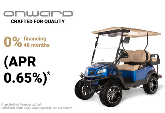 Onward golf cart financing offer