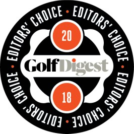 2018 Golf Digest Editor's Choice badge awarded for the Tempo + Tempo Connect, from Club Car
