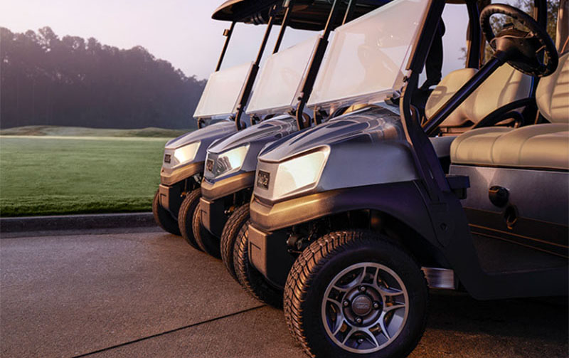 Tempo golf cart fleet with lithium ion battery power