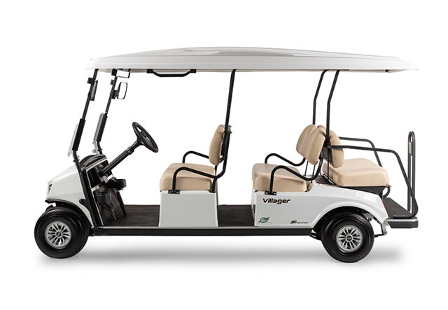 Golf cart Villager 6 shuttle profile view 2