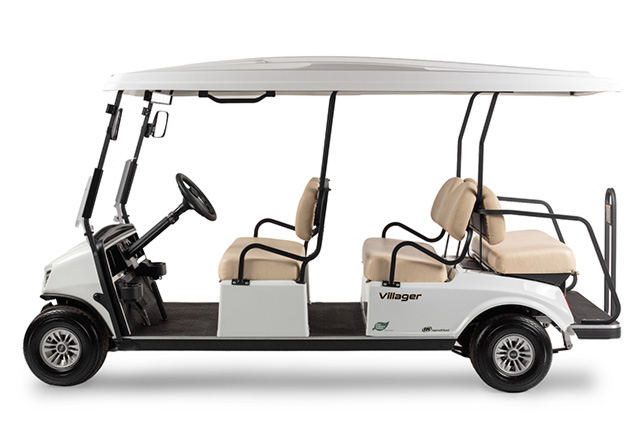 Golf cart Villager 6 shuttle profile view