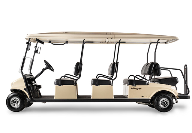 Golf cart Villager 8 shuttle profile view